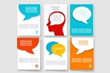 Speech bubbles templates.