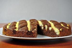 Homemade cocoa cake