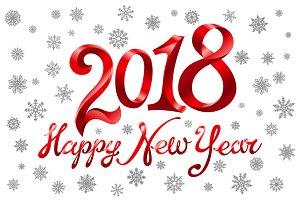 2018 Happy New Year holiday