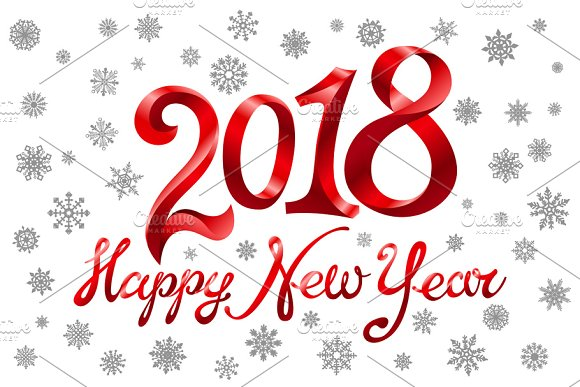 2018 happy new year holiday graphics