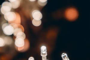 small light and bokeh night light