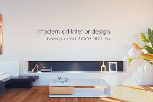 modern art interior.