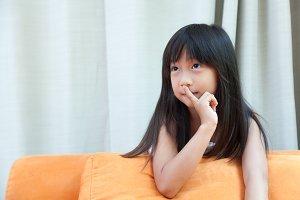 Young girl, silently
