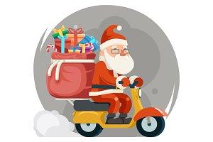 Gift Box Santa