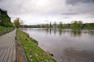Embankment of the Vltava River in Pr