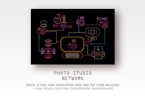 Photo Studio Network vector artwork