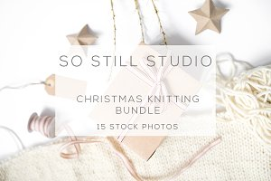 Christmas knitting bundle