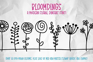 Bloomdings: abstract floral dingbats