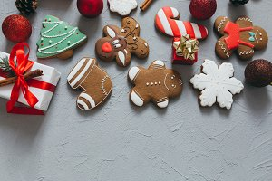 A Christmas gingerbreads.