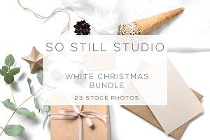 White Christmas stock photo bundle
