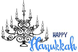 Happy Hanukkah, Jewish holiday