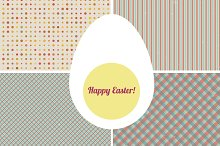 Set of 4 seamless pattern with egg.