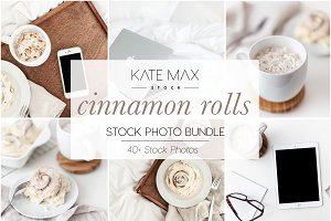 Cinnamon Rolls Stock Photo Bundle
