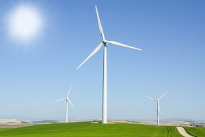 Windmills to generate wind power
