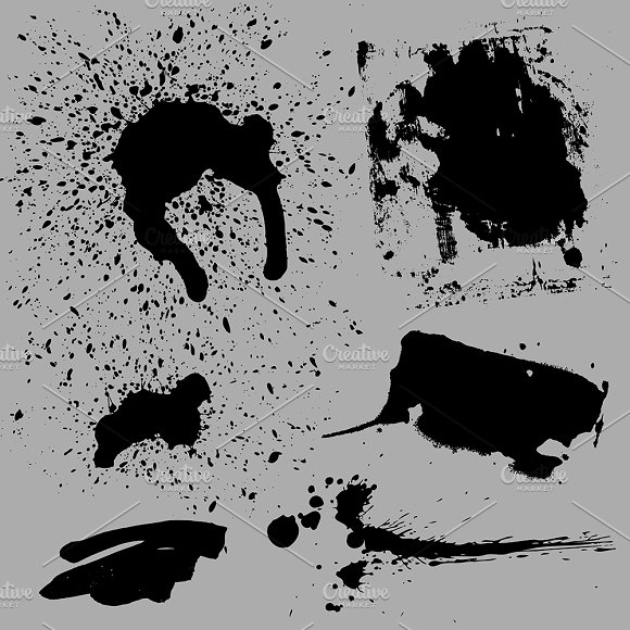 Distorted Grunge Vector Elements