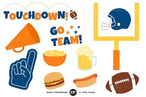 Football Party Clipart