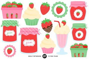 Strawberry Treats Clipart