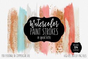 Autumn Watercolor Brush Strokes