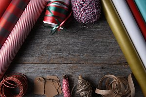 Present Wrapping Supplies with Copy