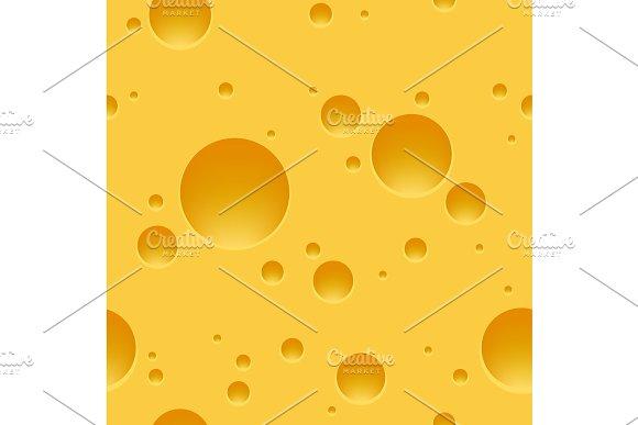 Swiss Cheese Seamless Pattern