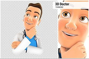3D Doctor Thinking
