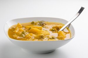 Bowl with tasty soup