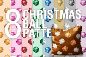 Christmas Ball PSD Patterns + PNG