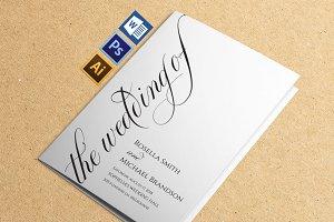 Wedding Program folded Wpc365
