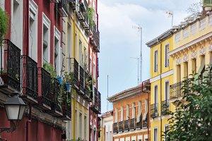 Lavapies, Ancient colorful facades,