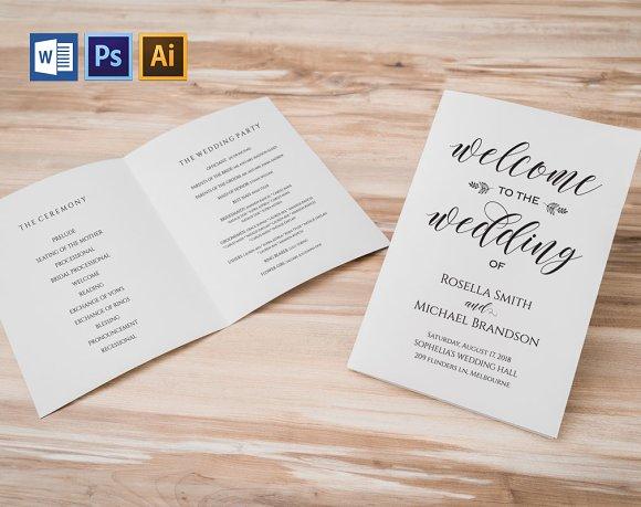Wedding Program Folded Wpc366