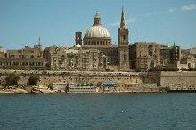 valetta ancient city. Mediterranean