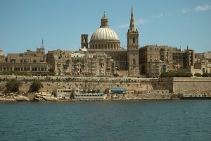 valetta ancient city. Mediterranean