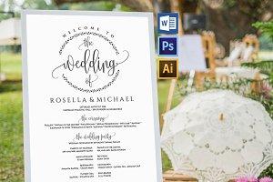 Wedding Program Sign Wpc368