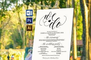 Wedding Program Sign Wpc369