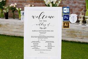 Wedding Program Sign Wpc370