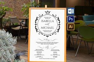 Wedding Program Sign Wpc371