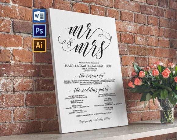 Wedding Program Sign Wpc374