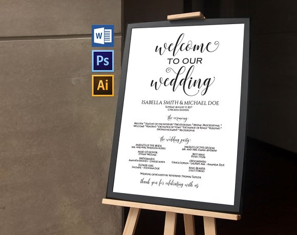 Wedding Program Sign Wpc376