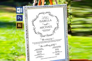 Wedding Program Sign SHR377