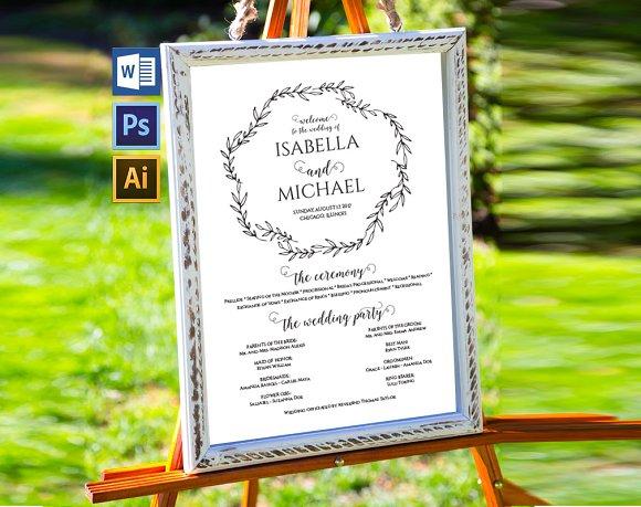 Wedding Program Sign Wpc377