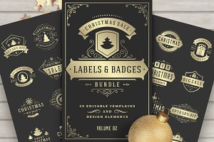 30 Christmas Sale Labels and Badges