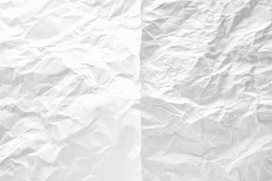 White paper crumpled texture.