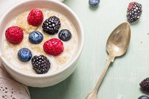 Oatmeal porridge breakfast