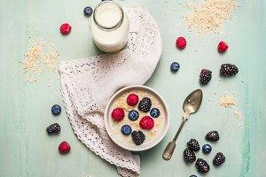 Oatmeal porridge for breakfast