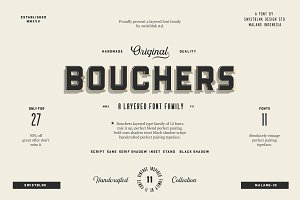 Bouchers Layered | Font Bundle