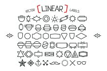 Vector linear hipster labels.
