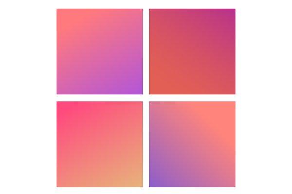 Trendy Сolor gradients Vector