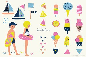 Beach Clip Art - Seaside Ice Cream