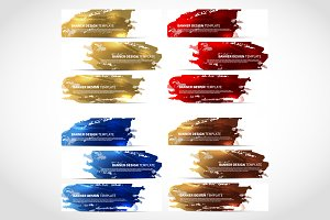 Banners Trendy Colorful vector