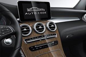 Auto Code logo template